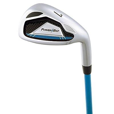Powerbilt Boy's Ages 5-8 7-Iron Golf Stick, Right Hand, Blue