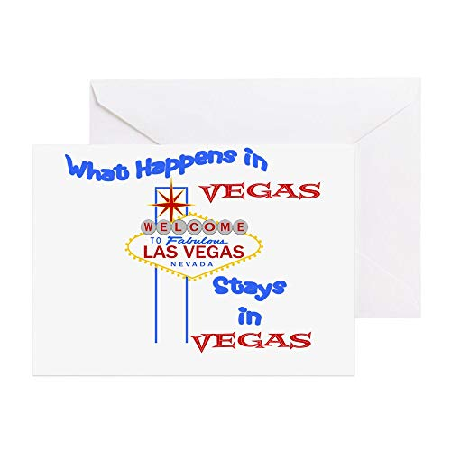 CafePress Las Vegas Greeting Card, Note Card, Birthday Card, Blank Inside Glossy