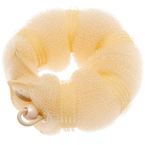 Goldrose Beauty Fashion Hair Design Styling Tools 2 Pieces Magic Hair Styling Styler Twist Ring Former Shaper Doughnut Donut Chignon Bun Maker Clip Hair Curler Accessory Middle & Large (Blonde)