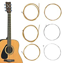 LOadSEcr's Musical Instruments Tool, 6Pcs/1Set Bronze Steel Warm Balanced Tone for Acoustic 150XL Electric Guitar Bass…