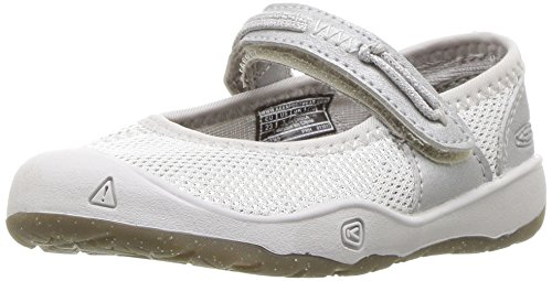 Keen Leather Mary Janes (KEEN Baby Moxie Mary Jane Flat, Silver, 7 M US Toddler)
