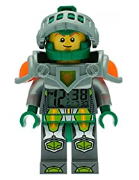 LEGO Kids 'Ninjago Nexo Knights' Quartz Green Alarm Clock Watch