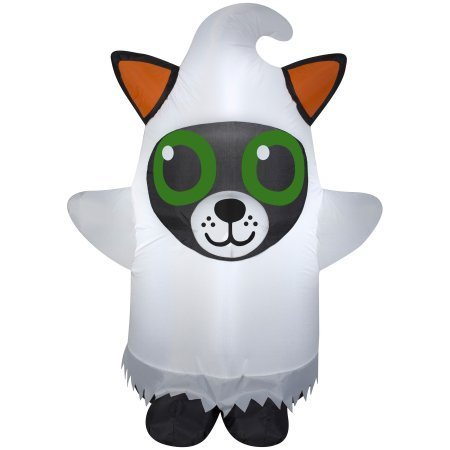 Airblown Inflatable Cute Halloween Decor 3.5 ft Tall by Gemmy Industries (Cute Cat Dressed as Ghost)