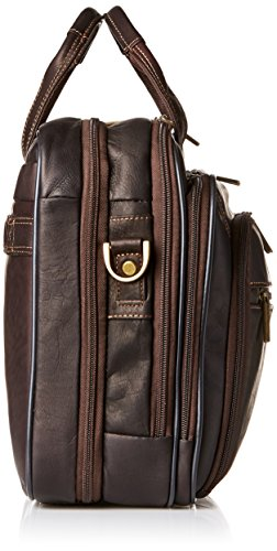 Heritage Double Gusset Top Zip EZ Scan Computer Case with IPad Tablet Pocket, Brown, One Size by Heritage Travelware (Image #2)