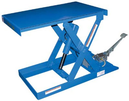 IHS-SCTAB-500-Steel-Foot-Pump-Scissor-Lift-Table-with-Painted-Blue-Finish-500-lbs-Capacity-33-Length-x-20-Width-Platform-6-28-Height
