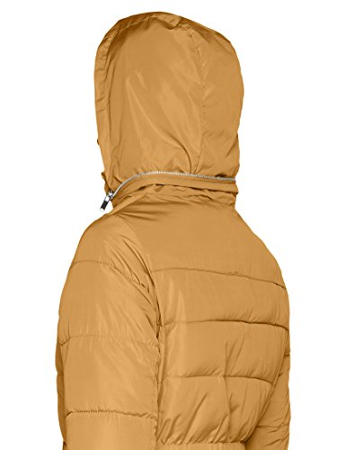 Amarillo Padded Para 87 New Abrigo Mujer Fitted Yellow dark Look pxnWZ