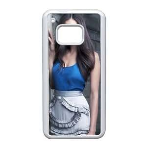 Nina Dobrev_002 High Quality Specially Designed Skin cover Case For HTC One M9 White