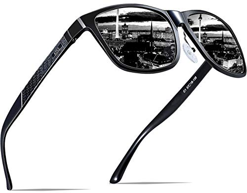ATTCL Men's Retro Metal Frame Driving Polarized Sunglasses For Men