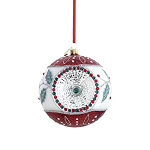 Reed & Barton Holly Reflector Christmas Ornament, 3-1/2-Inch