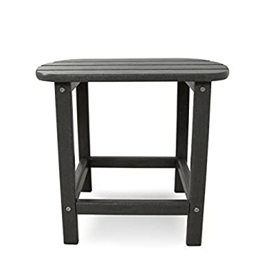 POLYWOOD SBT18GY South Beach Side Table, 18-Inch, Slate Grey