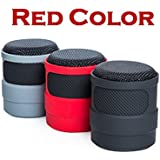 Wireless Bluetooth Speaker for iPhone Android iPad iPod Red Color