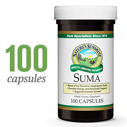 Nature's Sunshine Suma Combination, 100 Capsules | Increases Energy and Supports The Immune System with Six Powerful Adaptogenic Herbs ()