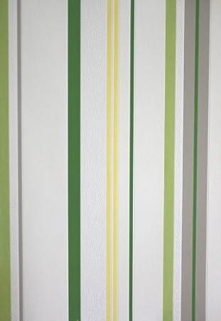 Rasch tapeten grün  Tapete 789522 Rasch Tapeten Spice Up 2013 Streifen gelb grün grau ...