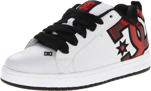 Mens Court Graffik Skate Shoes (DC Men's Court Graffik SE Skate Shoe,White/Red/Print,7.5 M US)