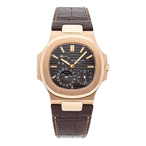 - Patek Philippe Nautilus Mechanical (Automatic) Black Dial Mens Watch 5712R-001 (Certified Pre-Owned)