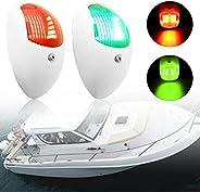ISURE MARINE LED Navigation Lights Boat Signal Lights, Waterproof Green Starboards Red Port Lights 12V Led Boa