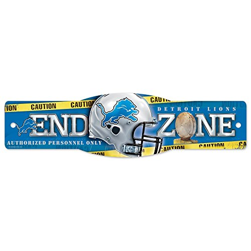 Wincraft NFL Detroit Lions 83558010 Street/Zone Sign, 4.5