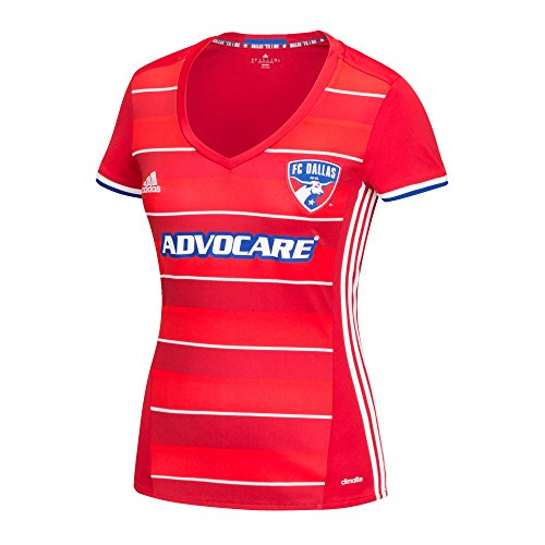 MLS Fc Dallas Women's Replica Short Sleeve Team Jersey, Red, X-Large