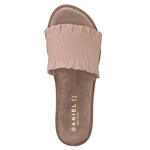 Leather Daniel curseurs Rose Daniel frilla cramponné Flatform Cuir frilla Pink zpanZ6q
