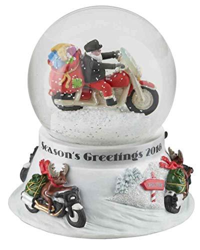 Harley-Davidson Winter 2018 Sculpted Biker Santa Glass Snow Globe - Ace Globe