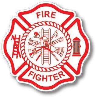 Haley 3 Stück Feuerwehr Abzeichen Malteserkreuz Dünne Rote Linie Rote Lives Matter Für Feuerwehrmänner Oder Feuerwehrfrauen Auto