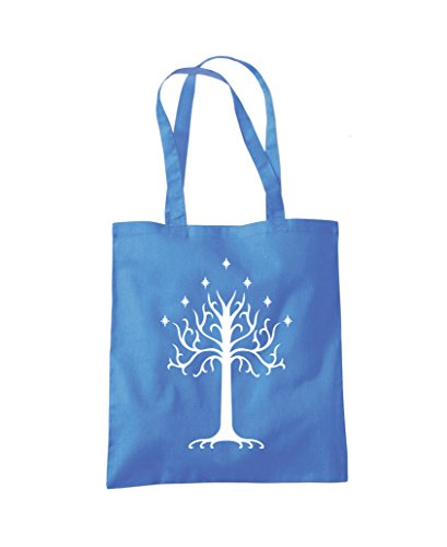 Shopper Cornflower Tree Bag White Gondor of Tote Fashion Blue fAxqI6
