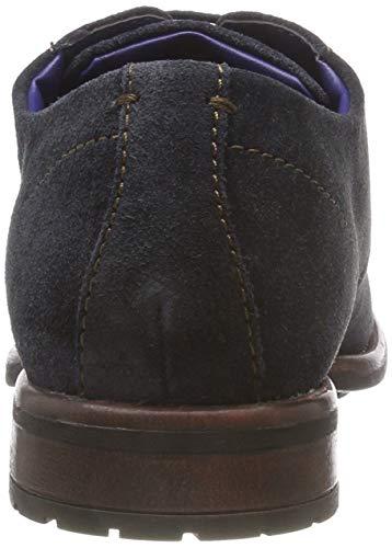 Hombre 3 Azul Bugatti 11 4100 13223e dark Zapatos Derby Cordones Blue De Para 68wCpq