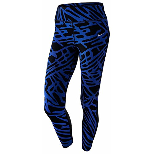 Nike Womens Palm Epic Lux Running Tight Pants Black/Blue X-Small