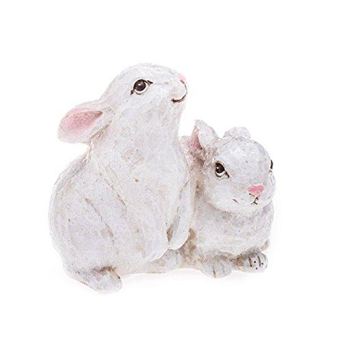 Darice Rustic Bunny Decoration White Home Decor
