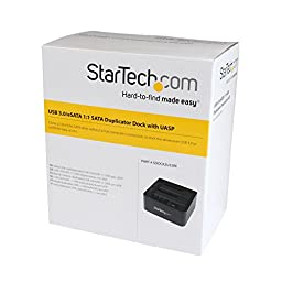 StarTech.com 6Gbps USB 3.0/eSATA to 2.5-Inch/3.5-Inch SATA Hard Disk Drive/Solid State Drive Duplicator Dock (SDOCK2U33RE)