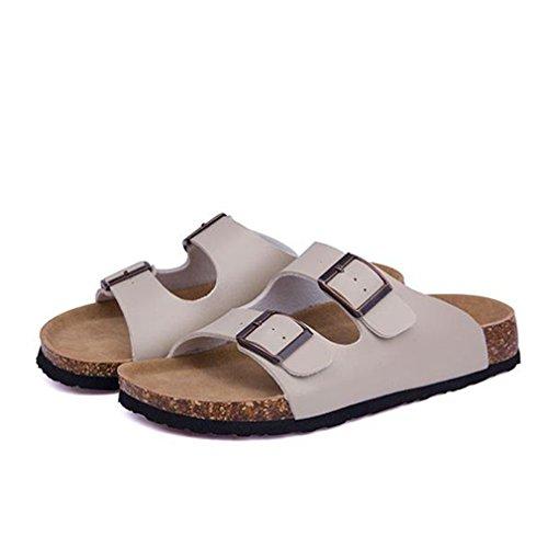 Double Taille Femmes Cork Sur Beach Flop Summer Flip Slip Boucle Plus Beige Pantoufles Casual Glissières Sabots Chaussure La aHI15w8xq