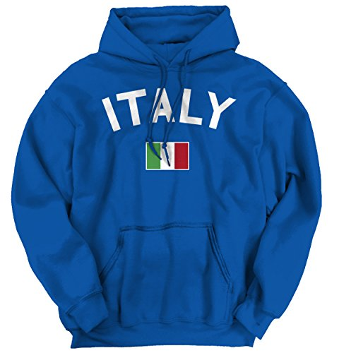Brisco Brands Italy Flag World Cup Soccer Italian National Flag Pride Hoodie