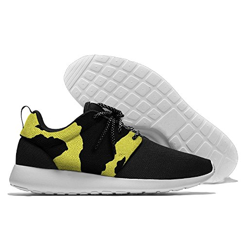 Africa Map Men Fashion Leisure Shoes Running Mesh Sneakers by V4od Shoes