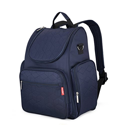 Linerail Nappy Stroller Bags Multifunctional Maternity Changing Bags For Mommy Backpacks Navy Blue