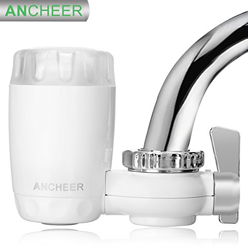 Ancheer Kitchen Faucets Water Filter, Ceramic Material Ultra Safe Water Filtration System for Household Tap Water Purifier