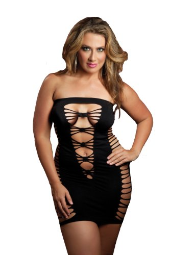 Seven Til Midnight Women's Plus Size Seductress Tube Dress