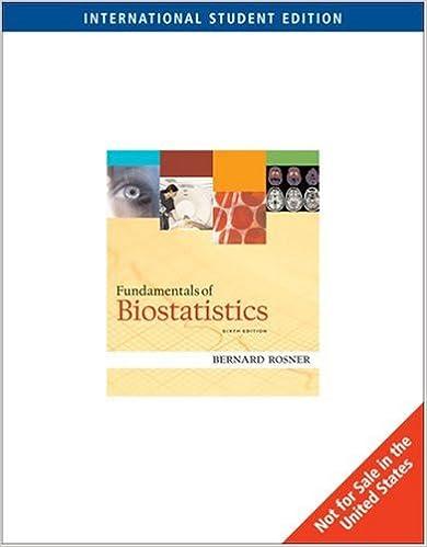 Fundamentals Of Biostatistics Bernard A Rosner