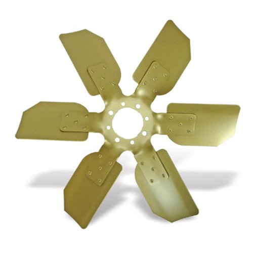"Flex-a-lite 5919 Gold Steel, Aluminum bladed 19"" Reverse Rotation O.E. Replacement Fan"