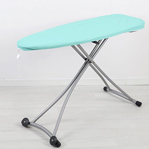 Time2ShopUS Scorch Resistant Padded Ironing Board Cover Metallic Heavy Duty Heat Reflective (Metallic Mint) (Ironing Board Cover 12 X 42)