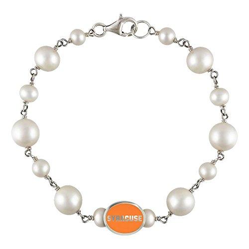Syracuse Orange Pearl Bracelet | Freshwater Pearls by College Jewelry