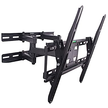 VonHaus Double Arm Articulating Cantilever TV Bracket Wall Mount with Tilt- for 23 -56  LCD LED Plasma Flat Panels - Heavy Gage Reinforced Steel