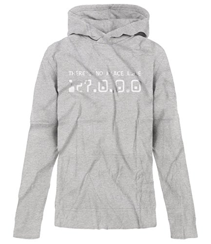 - BSW Youth There's No Place Like 127.0.0.0 Wizard of OZ IP Address Hood LRG Grey