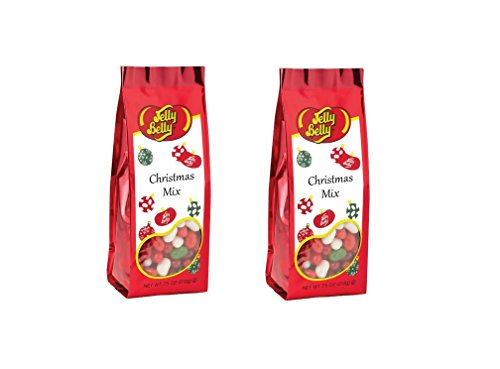 Jelly Belly Christmas Mix Jelly Beans 7.5 oz Gift Bag Set of