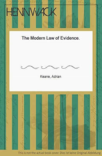 Modern Law Of Evidence Download Pdf By Adrian Keane Zingsleevecres