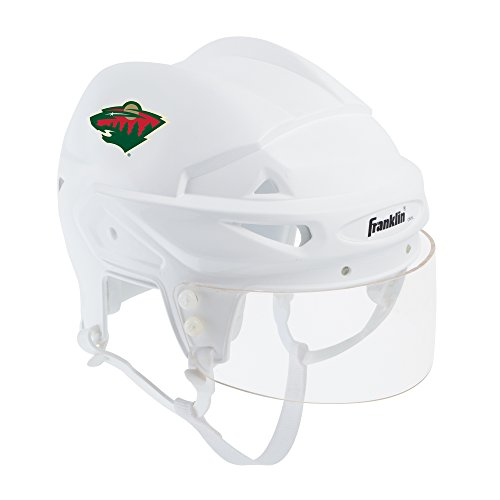 (Franklin Sports Minnesota Wild Mini Player Helmet - White Helmet w/Player Number Stickers - Great for Autographs - NHL Official Licensed Product)