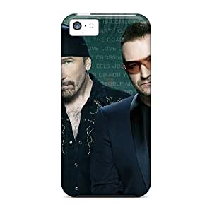 Top Quality Protection Celebrities U2 Rock Band Case Cover For Iphone 5c by supermalls