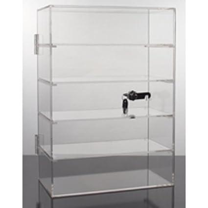 Amazon.com: New 5 estantes bloqueo de acrílico Display ...
