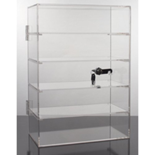 New 5 Shelf Acrylic Locking Display Showcase Rack 10.5''W x 5.5''D x 15''H by Counter Display
