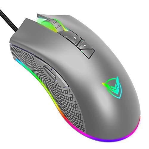 PICTEK Gaming Mouse 【9 RGB Lighting Modes & 10'000 DPI