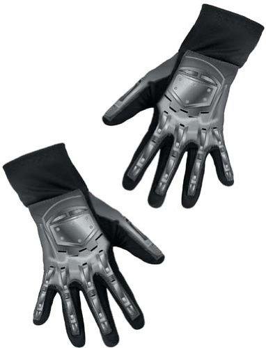 [DUKE DELUXE ADULT GLOVES] (Deluxe Black Polyester Gloves)